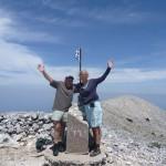 Jimmy en ik op de top van de Kerkis.